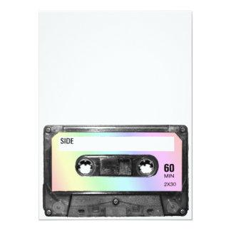 Pastel Rainbow Label Cassette Card