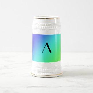 Pastel rainbow monogram coffee mug