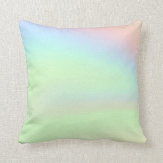 Pastel Rainbow of Color Throw Pillow