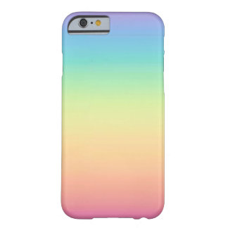 Pastel Rainbow Ombre Barely There iPhone 6 Case