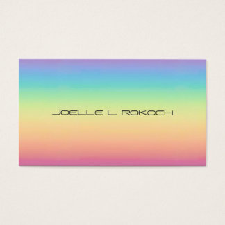 Pastel Rainbow Ombre Business Card