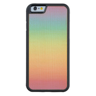 Pastel Rainbow Ombre Carved® Maple iPhone 6 Bumper Case