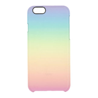 Pastel Rainbow Ombre Clear iPhone 6/6S Case