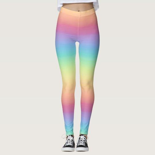 e4b0f4934620 Pastel Rainbow Ombre Leggings | Zazzle.com