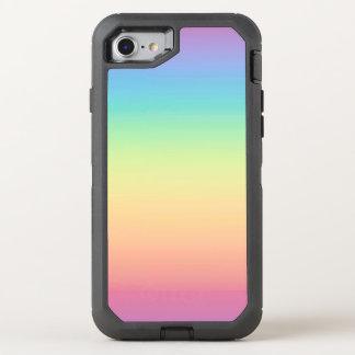 Pastel Rainbow Ombre OtterBox Defender iPhone 8/7 Case