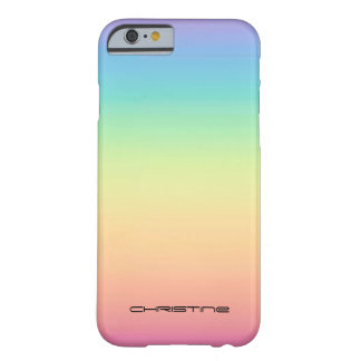 Pastel Rainbow Ombre Personalized Barely There iPhone 6 Case