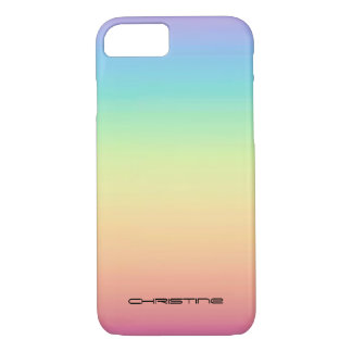 Pastel Rainbow Ombre Personalized iPhone 8/7 Case