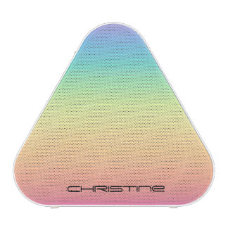 Pastel Rainbow Ombre Personalized Speaker