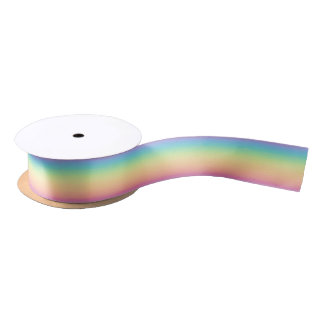 Pastel Rainbow Ombre Satin Ribbon
