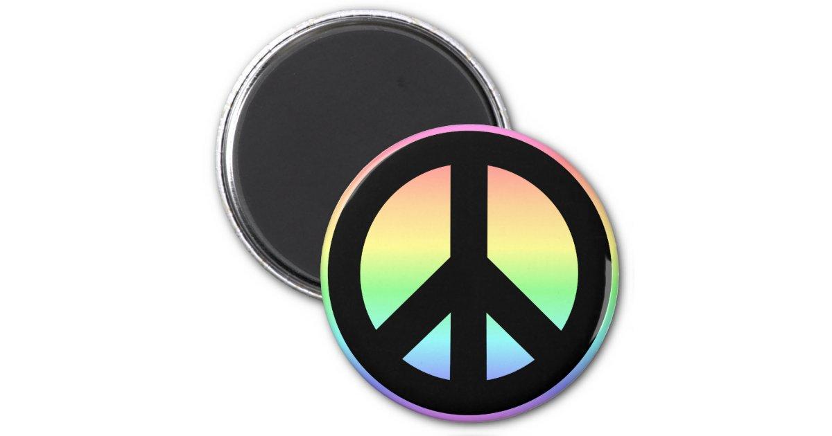 Pastel Rainbow Peace Sign Magnet Zazzle Com