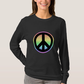Pastel Rainbow Peace Sign T-Shirt
