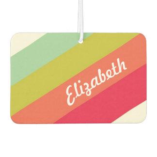 Pastel Rainbow Personalized Name Air Freshener