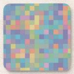 Pastel Rainbow Pixel Pattern Coasters