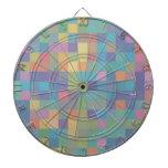 Pastel Rainbow Pixel Pattern Dartboards