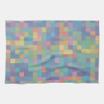 Pastel Rainbow Pixel Pattern Hand Towel