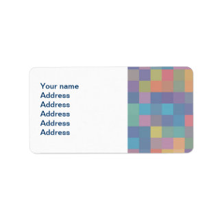 Pastel Rainbow Pixel Pattern Label