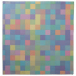 Pastel Rainbow Pixel Pattern Printed Napkin