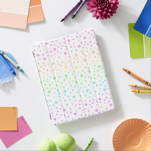 Pastel Rainbow Polka Dots iPad Smart Cover