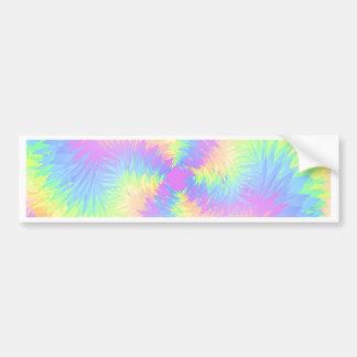 Pastel Rainbow Pompom Bumper Sticker
