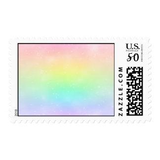 Pastel Rainbow Postage Stamp