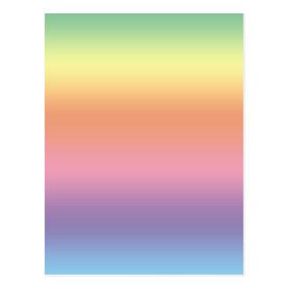 Pastel Rainbow Postcard