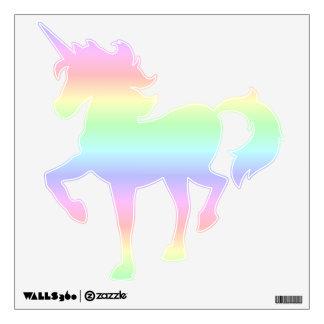 Pastel Rainbow Prancing Unicorn Wall Decal