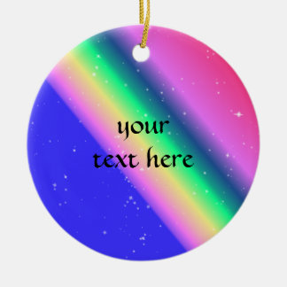Pastel rainbow pretty ornament