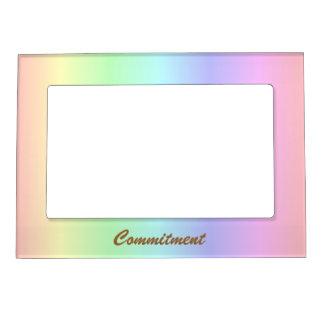 Pastel Rainbow Pride Commitment Frame