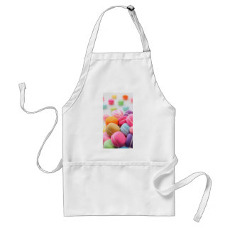 Pastel Rainbow Scattered French Macaron Cookies Adult Apron