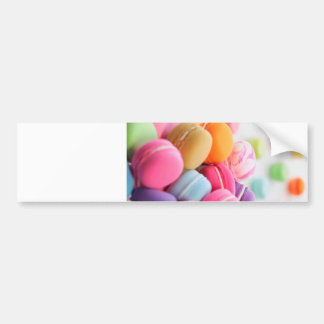 Pastel Rainbow Scattered French Macaron Cookies Bumper Sticker