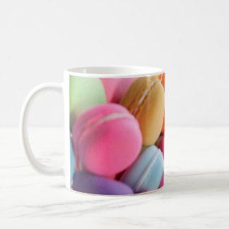 Pastel Rainbow Scattered French Macaron Cookies Coffee Mug