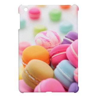 Pastel Rainbow Scattered French Macaron Cookies iPad Mini Cover