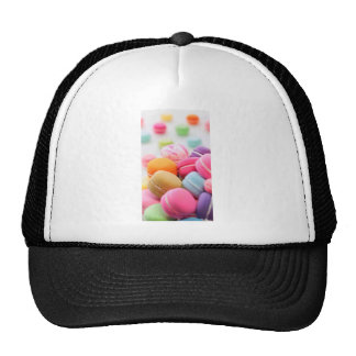 Pastel Rainbow Scattered French Macaron Cookies Trucker Hat