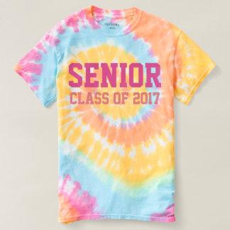 Pastel Rainbow Senior Class of 2017 Tie-Dye Shirt