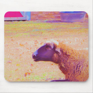 Pastel Rainbow Sheep Mouse Pad