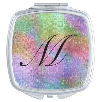 Pastel Rainbow Sparkles Compact Mirror