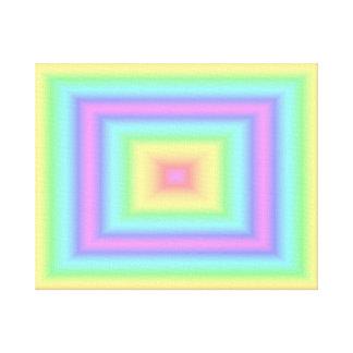 Pastel Rainbow Square Canvas Print