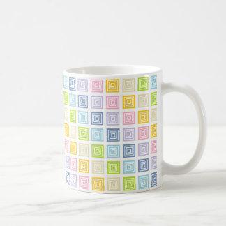 Pastel Rainbow Squared Coffee Mug