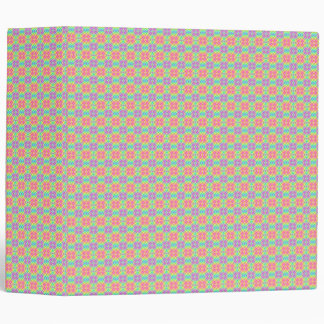 Pastel Rainbow Squares Patterned 3-ring Binder
