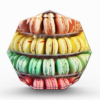 Pastel Rainbow Stacked French Macaron Cookies Award