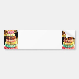 Pastel Rainbow Stacked French Macaron Cookies Bumper Sticker