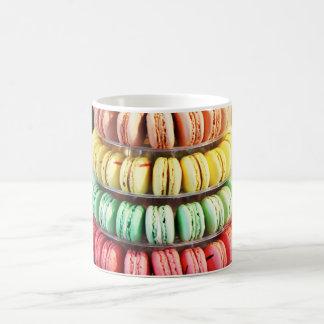 Pastel Rainbow Stacked French Macaron Cookies Coffee Mug