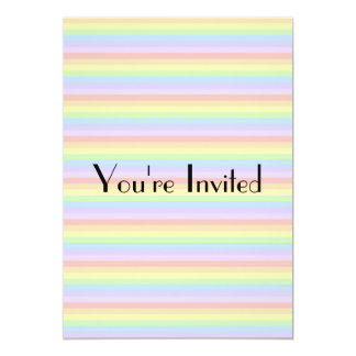Pastel Rainbow Stripes. Card
