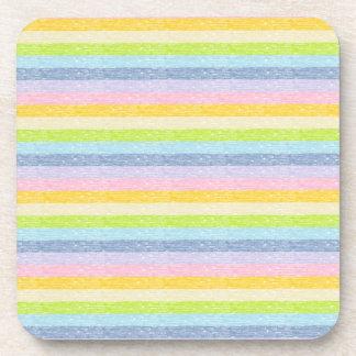 Pastel Rainbow Stripes Coasters