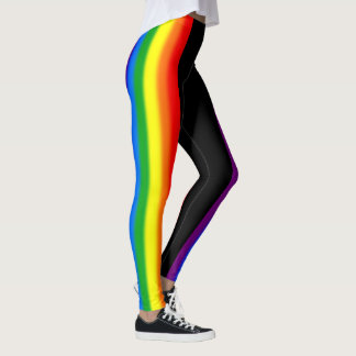 Pastel Rainbow Stripes Gay Pride LGBT Support Leggings