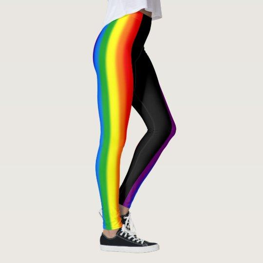 dd3da3360676 Pastel Rainbow Stripes Gay Pride LGBT Support Leggings | Zazzle.com