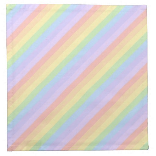 Pastel Rainbow Stripes. Napkins