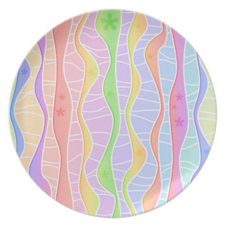 PASTEL RAINBOW STRIPES PLATE