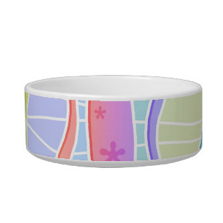 PASTEL RAINBOW STRIPES SNACK or PET BOWL