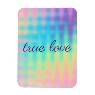 Pastel Rainbow Wedding Magnet